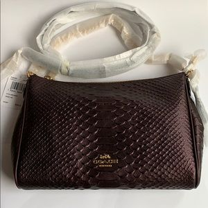 Coach Python Crossbody purse